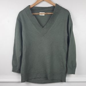 Wilfred Aritzia Devry Merino Wool V-Neck Sweater